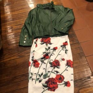 A Rose Garden Pencil Skirt.